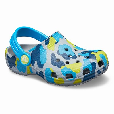 Crocs Classic Seasonal Graphic Clogs Kinder HellGrau | DE29696-961