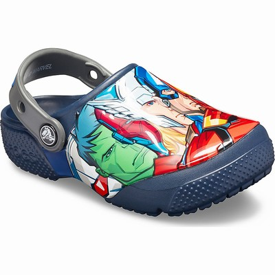 Crocs Fun Lab Marvel Multi Clogs Kinder Navy | DE23281-444