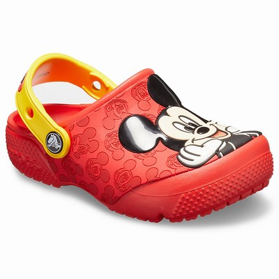 Crocs Fun Lab Mickey Clogs Kinder Rot | DE57038-237