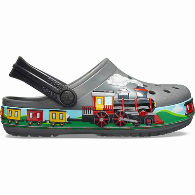 Crocs Fun Lab Train Clogs Kinder Grau | DE68222-692