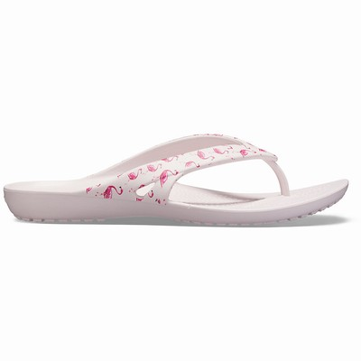 Crocs Kadee Ii Seasonal Graphic Flip Flop Damen Rosa | DE76278-394