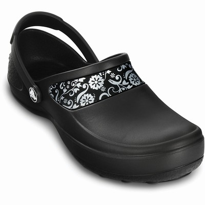 Crocs Mercy Work Clogs Damen Schwarz/Silber | DE67442-404