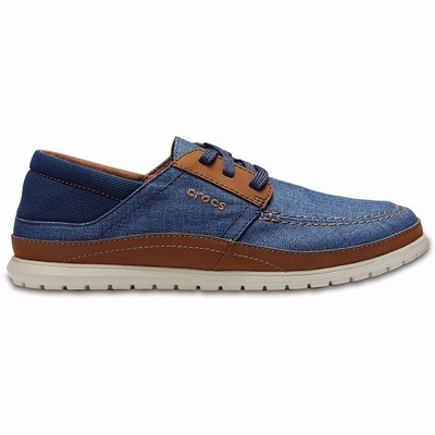 Crocs Santa Cruz Playa Lace-up Trainer Herren Navy/Grau | DE87704-598
