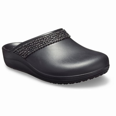 Crocs Sloane Diamante Clogs Damen Schwarz | DE63395-455