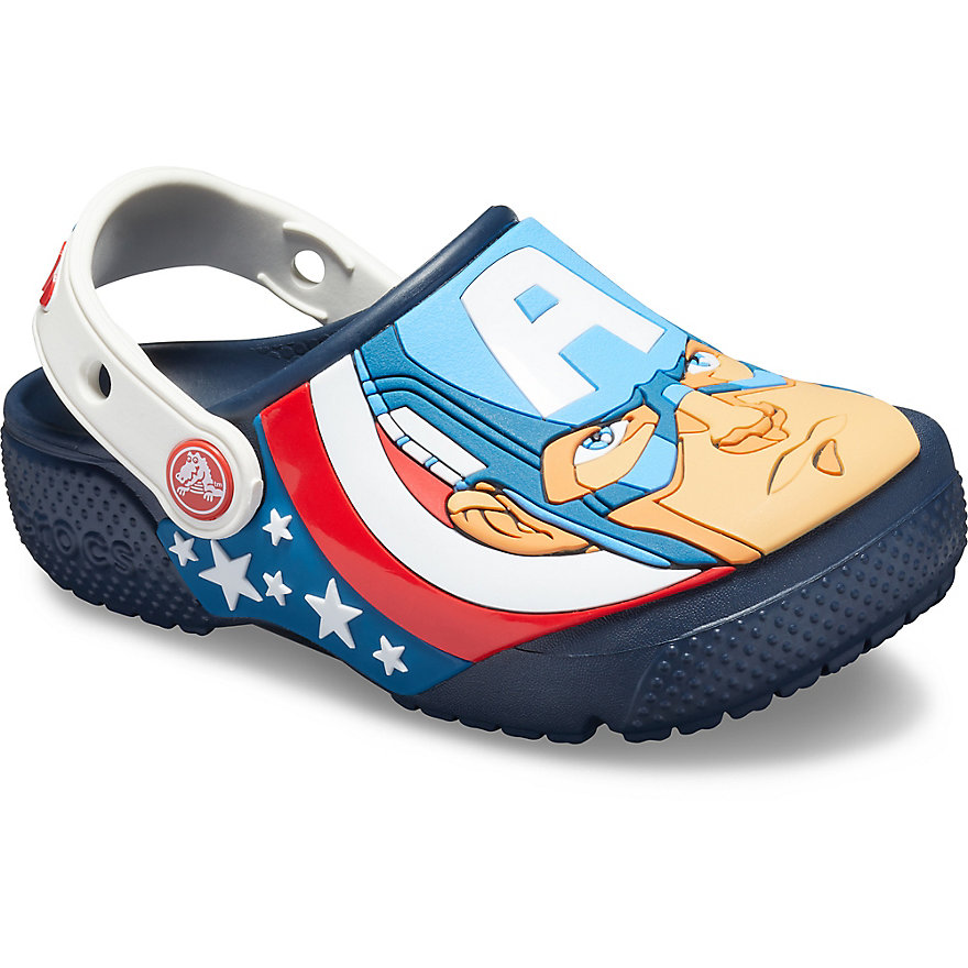 Crocs Fun Lab Captain America Clogs Kinder Navy | DE61344-331